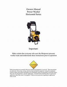 Pressure Washer Owners Manual