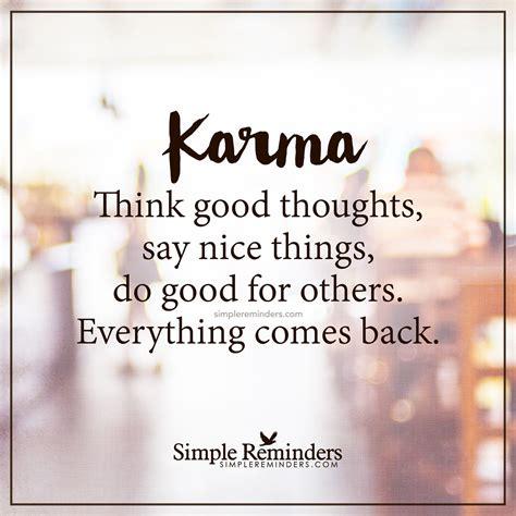 karma  good thoughts