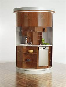 very small kitchen which has everything needed circle With furniture for kitchenette