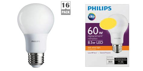 green deals philips 16 pack 60w a19 led light bulbs 27