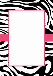 Printable Templates Zebra Border | Joy Studio Design ...