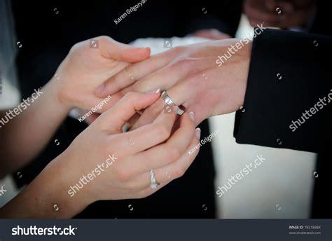 wedding rings exchange stock photo 79318984