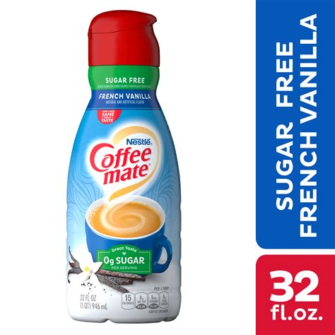 Coffee mate, america's #1 coffee creamer brand, offers all of the foodservice formats and flavors you need to build customer loyalty, drive traffic, and enhance your coffee menu with available formats like liquid creamer singles, liquid pump bottles and powdered creamers with flavors that delight. COFFEE MATE Sugar Free French Vanilla Liquid Coffee ...