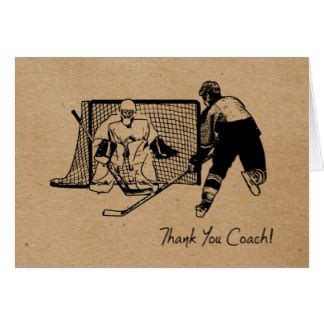 hockey thank you card template thank you hockey coach cards thank you hockey coach card