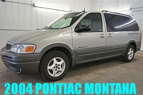 how to work on cars 2004 pontiac montana regenerative braking purchase used 2004 pontiac montana one owner 80 photos see description wow must see in