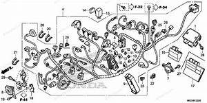 Honda Motorcycle 2012 Oem Parts Diagram For Wire Harness