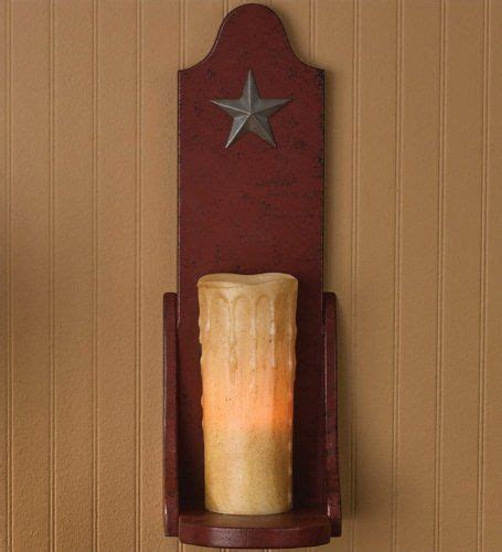 amazoncom red wood wall sconce pillar candle holder