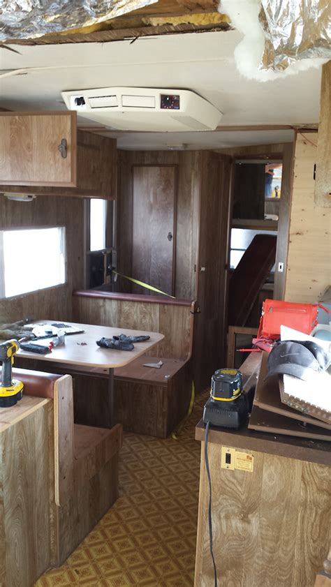 husband  wife team renovate  prowler travel trailer