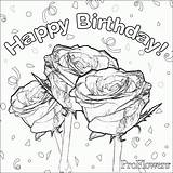 Coloring Birthday Happy Mom Pages Printable Card Boy Sheets Cards Rose Flower Adult Boys Colouring Adults Roses Flowercoloring Cool Enjoy sketch template