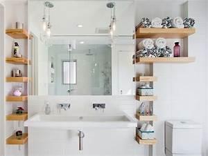 Salle De Bain Blanche Et Bois : la petite salle de bains un grand d fi et un vrai plaisir ~ Preciouscoupons.com Idées de Décoration