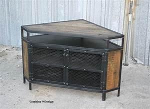 Buy A Custom Vintage Industrial Tv Stand Corner Unit