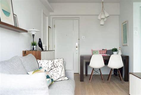 chaises cuisine blanches aménagement salon salle à manger réussir la séparation