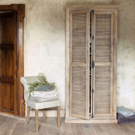 armoire en manguier l 100 cm persiennes boudoir et