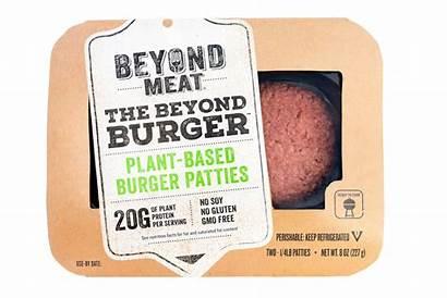 Meat Plant Based Burger Beyond Alternatives Packaging