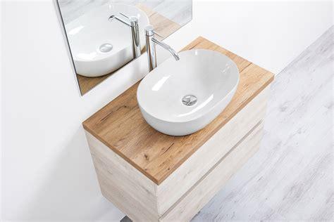 mobile bagno 60 mobile bagno sospeso per lavabo 60 cm rovere sbiancato con