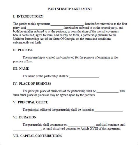 partnership agreement sample real estate forms
