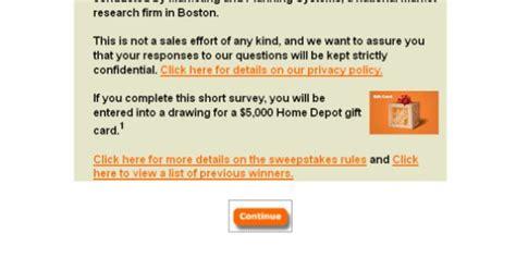 depot survey 5 000 home depot opinion survey www homedepot Home