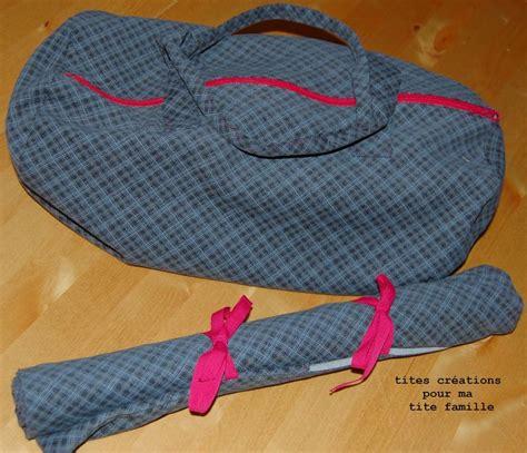 sac de tricot et range aiguilles 3 petites bobines et cie