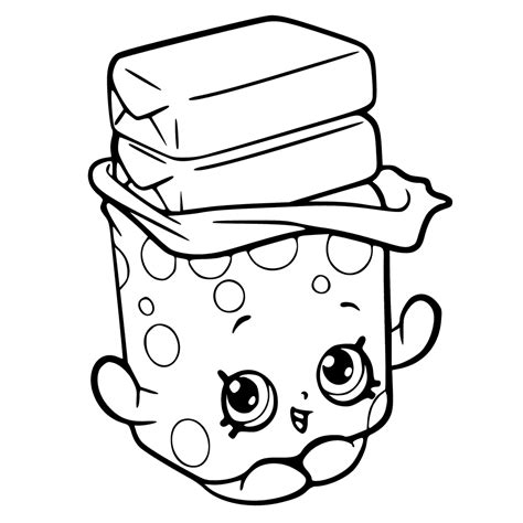 Shopkins Season 6 Coloring Pages Getcoloringpagescom