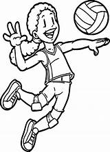 Coloring Volleyball Sports Outline Pages Suit Bathing Printable Drawing Cool Playing Race Getcolorings Getdrawings Adult Within Elegant Clipartmag sketch template