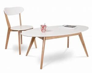 Table Basse Blanc Bois : 53 id es de table basse d co pour votre salon ~ Teatrodelosmanantiales.com Idées de Décoration