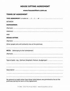 house sitter instructions template house sitter agreement form fill out and sign printable