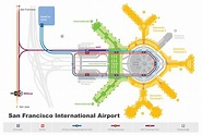 SFO airport car rental map - San Francisco airport rental ...