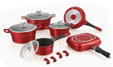 marble copper cookware coating pcs rl