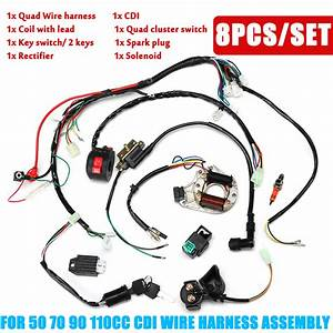 Wiring Harness Loom Solenoid Coil Cdi 50 70 90cc 110cc