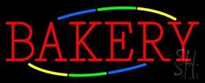 Multicolored Block Bakery Neon Sign