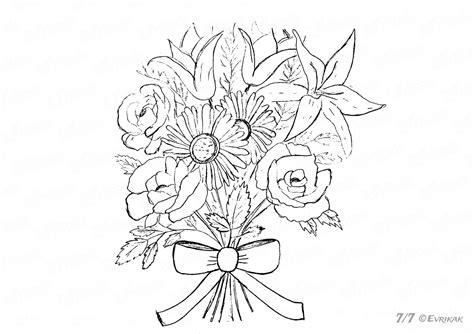 disegni di mazzi di fiori da colorare come disegnare a matita un bel bouquet di fiori con mazzi