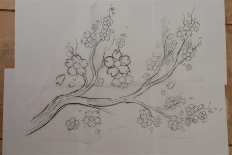 lihat  contoh sketsa gambar bunga mudah digambar sakura