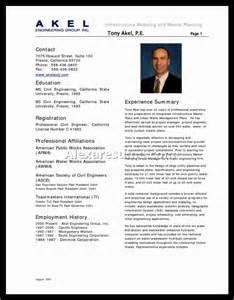 resume format for engineers doc civil engineer resume exles document