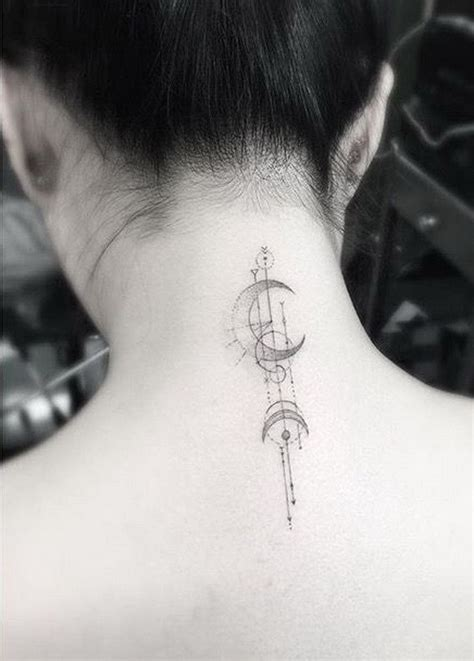Moon Tattoo Geometric