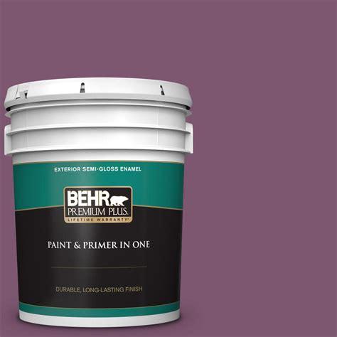 behr premium plus 5 gal m110 7 euphoric magenta gloss enamel exterior paint and primer in