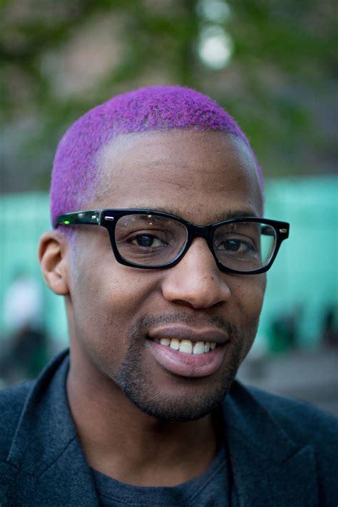 Purple Hair Man Dude Alternative Hair Mens Hair Dye