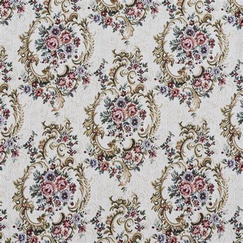 Floral Upholstery Fabric by F641 Burgundy Green And Blue Floral Tapestry Upholstery