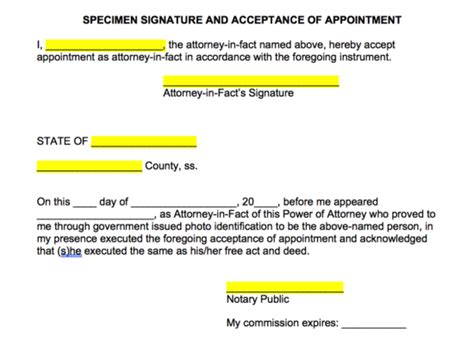 Free Consent To Change Attorney Form by Free Power Of Attorney Forms Word Pdf Eforms Free