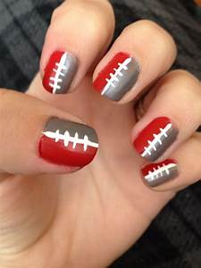 Cute Football Nail Designs Ohio State Nails Ohio State Nails Football Nail Designs