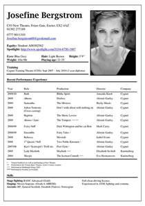 professional acting resume exles best 25 acting resume template ideas on resume templates resume exles