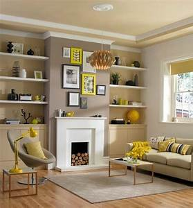 Decorate your living room with large wall shelves living for How to decorate living room shelves