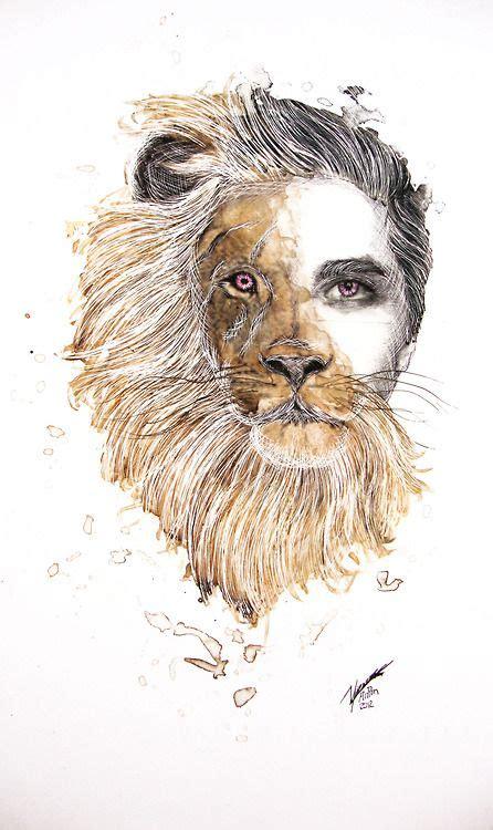 man  lion  artwork   balance btw heart
