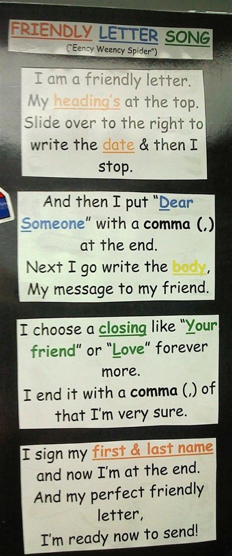 Parts Friendly Letter Poster