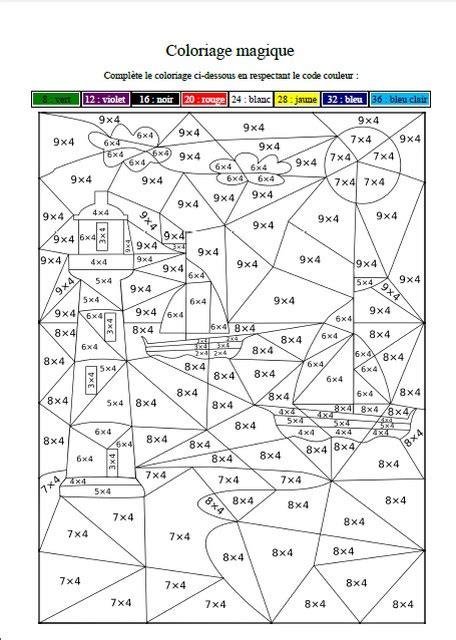 table de 4 tables de multiplication