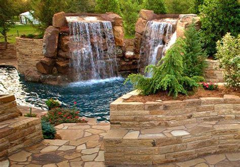backyard waterfall pond water features and koi ponds walls of sarasota