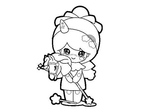 disegni kawaii da stare disegno di ragazza mascherata kawaii da colorare acolore