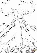 Volcano Eruption Coloring Pages Volcanic Drawing Printable Print Volcanoes Natural Volcanos Getdrawings sketch template