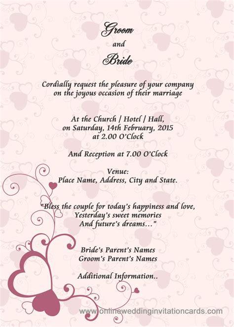 missing link wedding invitation layout wedding