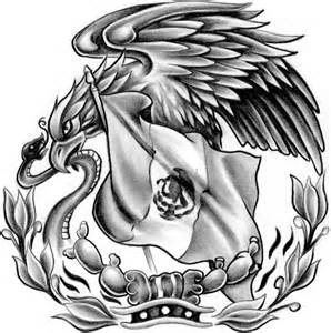 Mexican Flag Eagle Drawing Tattoo