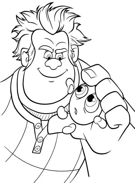 wreck  ralph coloring pages coloring pages    print